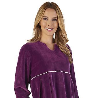 Slenderella GL2792 nők ' s luxus bársony öltöző ruha loungewear fürdő köpeny köntös