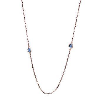 Orphelia Silber 925 Halskette Rose mit bunten Steinen 90 CM