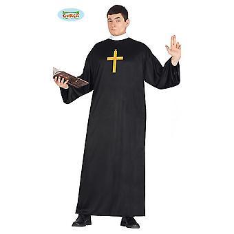 Costume de prêtre pasteur Carnaval Carnaval partie pour église noire pour hommes