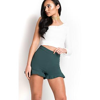 IKRUSH Womens Jayden Frill High Waist Shorts
