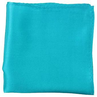 Mouchoir de poche de la soie Fine de Knightsbridge Neckwear - Turquoise clair