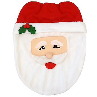 TRIXES Father Christmas Toilet Cover Set