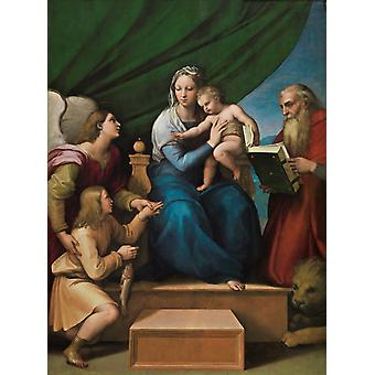 The Madonna of the Fish, Raphael, 50x40cm