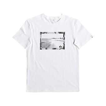 Quiksilver a camiseta de manga curta Goldy em branco