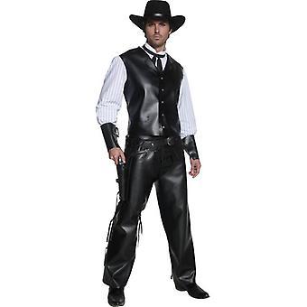 Authentic Western Gunslinger Costume, Chest 38