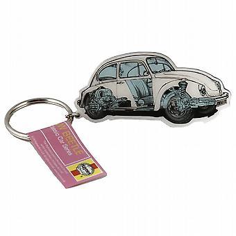 Haynes Volkswagen VW Beetle carro chaveiro Metal