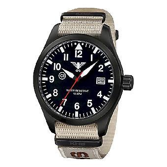 KHS orologi mens watch Airleader nero acciaio KHS. AIRBS. NXTLT5