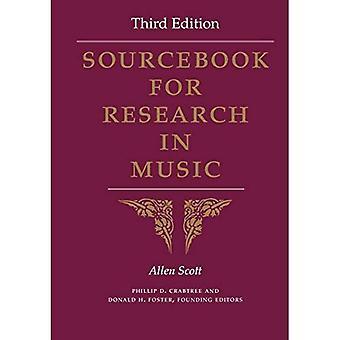 Sourcebook voor onderzoek in de muziek, derde editie