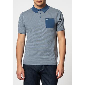 Merc PASCAL, vertical stripes knit polo with chest pocket