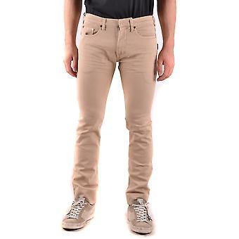 Neil Barrett Ezbc058039 Men's Beige Cotton Jeans