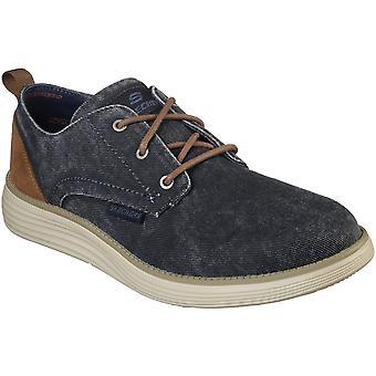 Skechers Mens Status 2.0 Pexton Demin Lace Up Casual schoenen