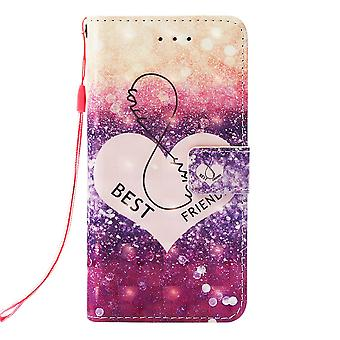 Samsung Galaxy S10 Plånboksfodral - Heart Pattern