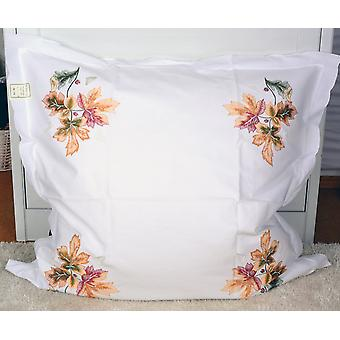 Hossner pillow parade cushion maple leaf embroidery shabby look 80 x 80 cm