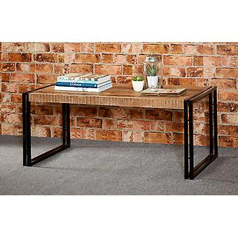Maison Industrial Metal & Wood Large Coffee Table