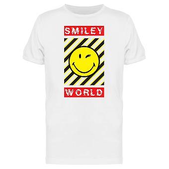 SmileyWorld Stripes Wink Happy Face Men's T-shirt