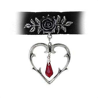 Alchemy Gothic Wounded Love Pewter Choker Halskerin