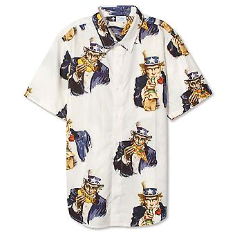 LRG Uncle Sammy SS Woven Shirt White