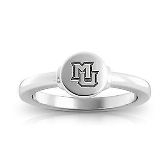 Marquette University ring i Sterling Silver design av BIXLER