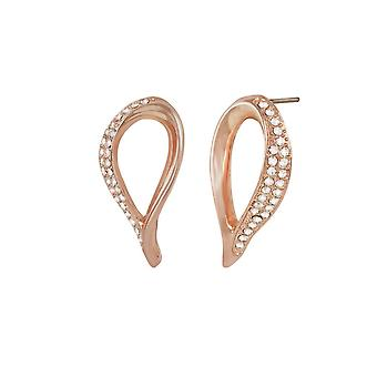 Eternal Collection Persephone Crystal Rose Gold Tone Stud Pierced Earrings