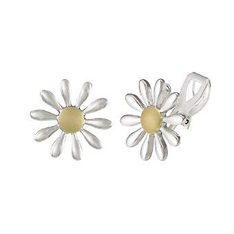 Eeuwige collectie Felicia Daisy zilveren Toon Stud Clip op oorbellen