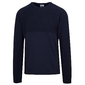 Les Basics Navy Le Ribless Sweat