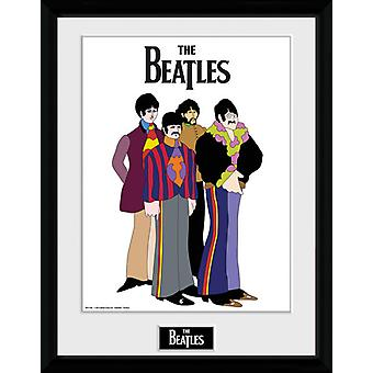 Gruppen Beatles Yellow Submarine inramade Collector Print 40x30cm