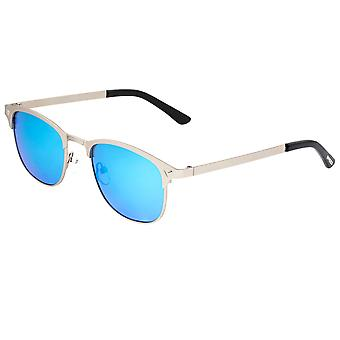 Breed Phase Titanium Polarized Sunglasses - Silver/Celeste
