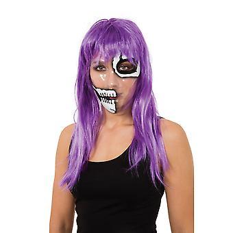 Bristol Novelty Unisex Transparent 50/50 Skeleton Mask