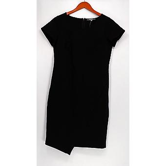 Lisa rinna kollektion klänning mössa ärm Ponte sticka svart A277018