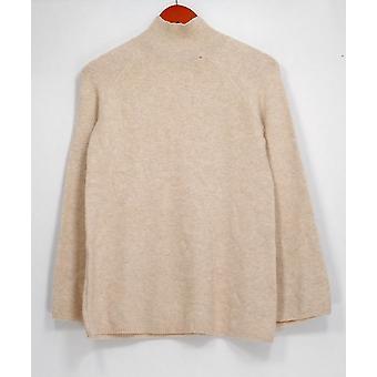 Du Jour suéter XXS mock cuello bell manga túnica Beige A300208 PTC