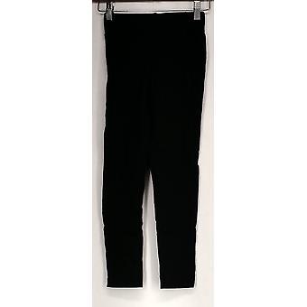 Kate & Mallory Leggings Stretch Knit Cropped Legging Black Womens A409763