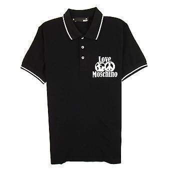 Love Moschino World Peace Polo Camisa Negro