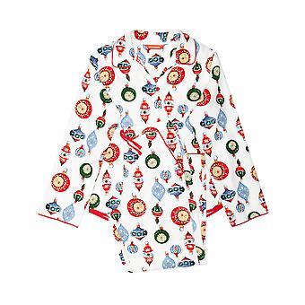 Minijammies 5513 Girl's Belle White Mix Bauble Print Cotton Pyjama Set