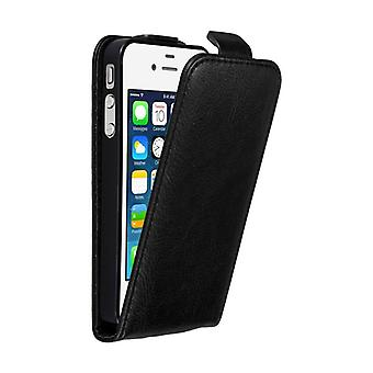 Cadorabo Case for Apple iPhone 4 / iPhone 4S Case Cover - Phone Case in Flip Design with Magnetic Closure - Case Cover Case Case Case Case Book Folding Style