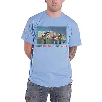 The Beatles T Shirt Nippon Budokan Band Logo nouveau officiel Mens Blue
