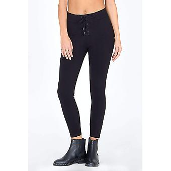 Amuse society middle of the road pant - black