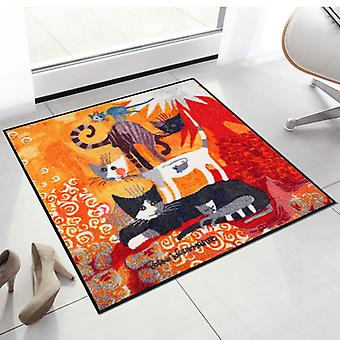 Rosina Wachtmeister doormat lifestyle cat Tower 85 x 85 cm SLD0871-085 x 085