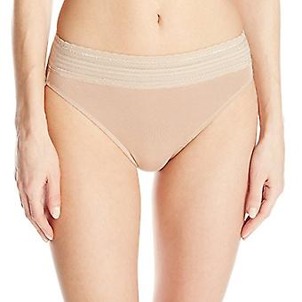Warner's Women's No Pinching No Problems Cotton Lace Hi Cut Panty, Toasted Al...