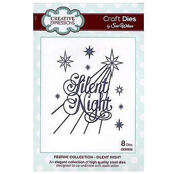 Creative Expressions Festive Collection - Silent Night Die by Sue Wilson CED3032