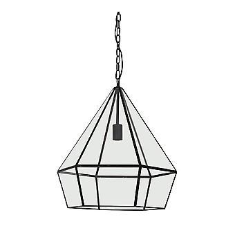 Light & Living Hanging Lamp Ø44X50 Cm Hidaya Black-Clear Glass