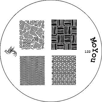 MoYou Runde Stamping Nail Art Bildplatte - Maniküre - 122