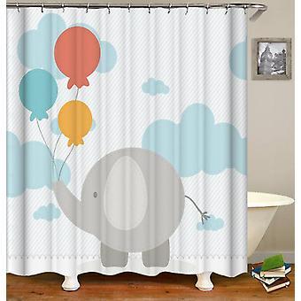 Kinder Elefant Charakter Duschvorhang