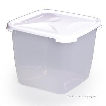 Wham Armazenamento 3,9 litros Cozinha Deep Square Recipiente de alimentos de plástico