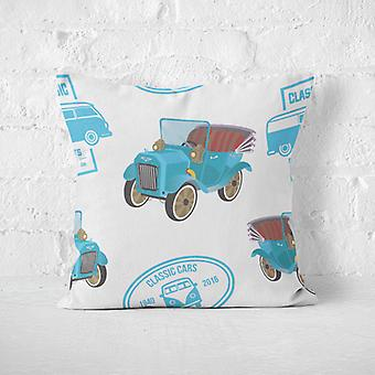 Meesoz Cushion Cover - Classic Cars White