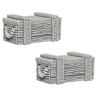 Pathfinder Battles Deep Cuts Unpainted Miniatures Crates (Pack of 6)