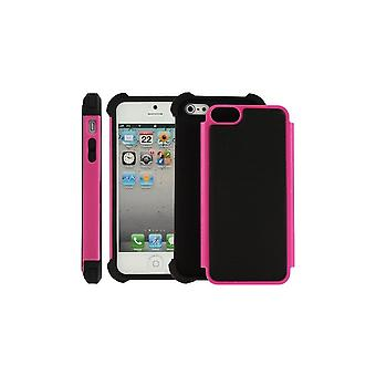 Black Plastic Shell And Rose Ultra Resistant For IPhone 5