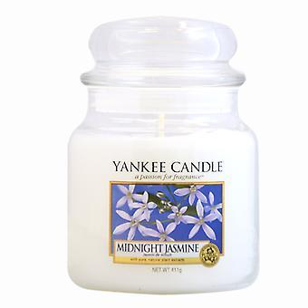 Yankee Kerze klassische Medium Jar Mitternacht Jasmin Kerze 411g