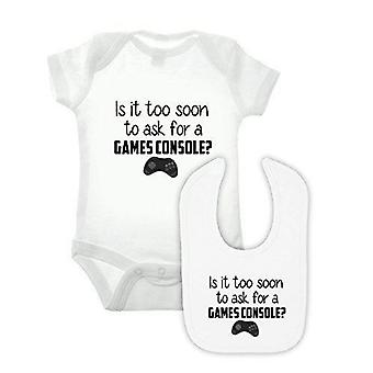 Game console babygrow en BIB Double Pack