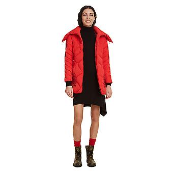Desigual Women's Padded Suluk Coat with Funnel Neck & Hood