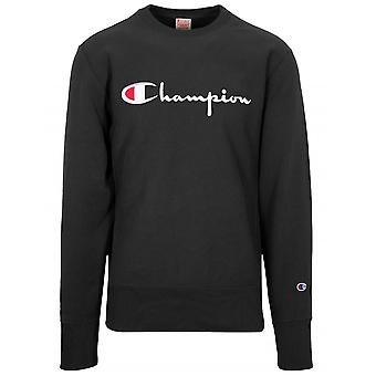 Champion Champion Reverse Weave Black Big Script Sweatshirt